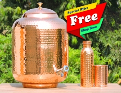 Pure Copper Fifteen Liters Water Dispenser-FREE Copper Water Bott