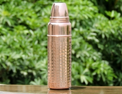 Pure Copper Hammered Thermos B