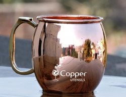 Pure Copper Moscow Mule Plain Mug
