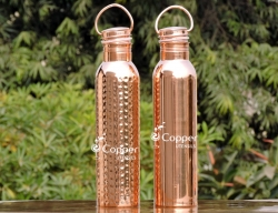 Set of Pure Copper Water Bottl
