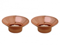 Set of Two Pure Copper Tea Lig