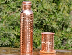 Set of Hammered Copper Water B