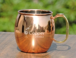 Stainless Steel Moscow Mule Mug with Copper Plated