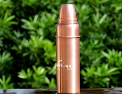 Thermos Style Copper Matte Finish Water Bottle