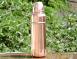 Thermos Style Copper Water Bottle Made of Pure Copper for Tamara
