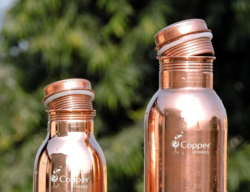 Drink Your Way to a Healthy Stomach With our Copper Water Bottle Plain Leak Proof